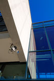 Surveillance camera on modern building Royalty Free Stock Photo