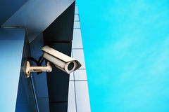 Surveillance camera on modern building Royalty Free Stock Images