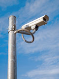 Surveillance Camera mounted on apole steel Stock Images