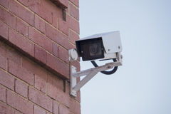 Surveillance camera wall Stock Image
