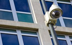 Surveillance Camera Out of Focus Stock Image