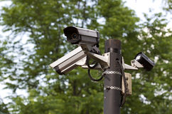 Surveillance camera outdoor - RAW format Royalty Free Stock Images
