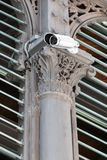 Surveillance camera on a pillar Royalty Free Stock Image