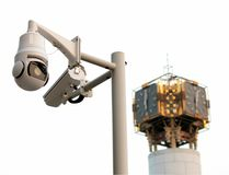Surveillance camera in Beijing Stock Photography