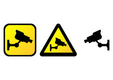 Surveillance camera sign Royalty Free Stock Photos