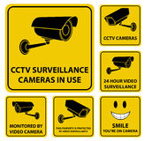 Surveillance Camera Signs Royalty Free Stock Images