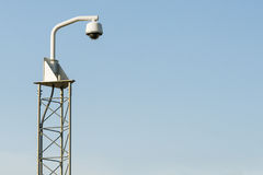 Surveillance camera system CCTV & Blue Sky Stock Photography