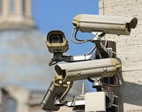 Surveillance camera to see all main points of the great metropol Royalty Free Stock Images