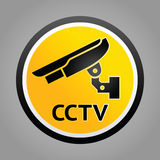 Surveillance camera warning symbol Royalty Free Stock Photography