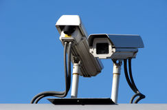 Surveillance cameraes Royalty Free Stock Photography
