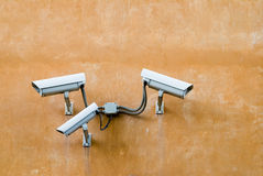 Surveillance cameras Royalty Free Stock Photos
