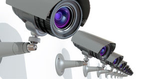 Surveillance Cameras Royalty Free Stock Photo
