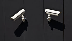 Surveillance cameras Royalty Free Stock Images