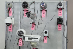 Surveillance cameras Royalty Free Stock Image