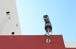 Surveillance cameras Stock Images