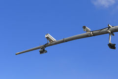 Surveillance cameras Royalty Free Stock Photos