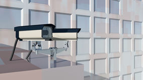 Surveillance cameras. Computer generated 3D illustration with surveillance cameras Royalty Free Stock Image