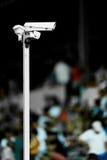 Surveillance cameras on stadium Stock Image
