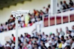 Surveillance cameras on stadium Royalty Free Stock Photography