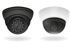 Surveillance cameras vector illustration Royalty Free Stock Image