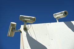 Surveillance CCTV Cameras Royalty Free Stock Photography