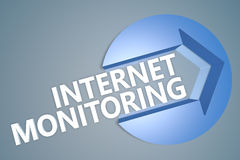 Surveillance d'Internet Photographie stock