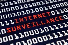 Surveillance d'Internet images libres de droits