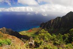 Surveillance de Kalalau en Hawaï Images libres de droits