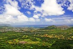 Surveillance de Pali dans Oahu Hawaï photographie stock libre de droits