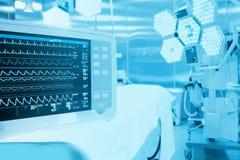 Surveillance de patient dans la salle d'opération chirurgicale Photo stock