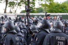 Surveillance de police à Hambourg Photos libres de droits