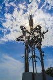 Surveillance de raisins au-dessus de Szekszard image stock