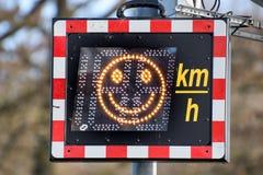 Surveillance de vitesse avec le smiley Image libre de droits