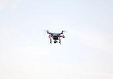 Surveillance drone flying Stock Photo
