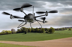 Surveillance Drone royalty free illustration