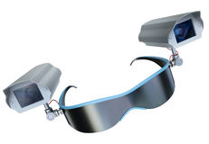 Surveillance glasses Royalty Free Stock Image