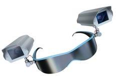 Surveillance glasses Royalty Free Stock Image