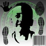 Surveillance globale illustration stock