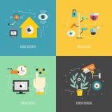 Surveillance Graphic Elements Stock Image