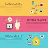 Surveillance Graphic Elements Stock Photo