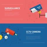 Surveillance Graphic Elements Royalty Free Stock Photo