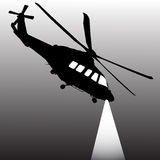 Surveillance helicopter Royalty Free Stock Images