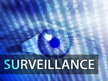 Surveillance illustration Royalty Free Stock Photo