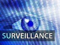 Surveillance illustration Royalty Free Stock Photo