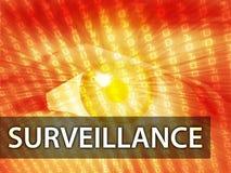 Surveillance illustration Stock Photos