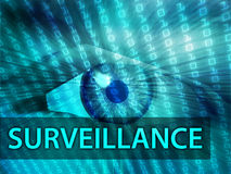 Surveillance illustration Stock Photography