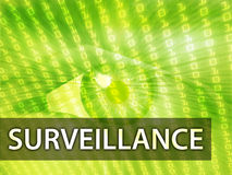 Surveillance illustration Royalty Free Stock Image