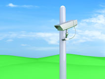 Surveillance landscape Royalty Free Stock Photo