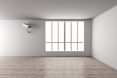 Surveillance in the Living room. 3D rendered Illustration Royalty Free Stock Photo
