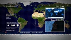 Surveillance par satellites illustration stock